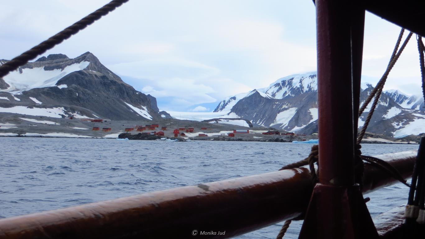 """die argentinische Basis """"Esperanza"""" in der Hope Bay, Antarktika"""