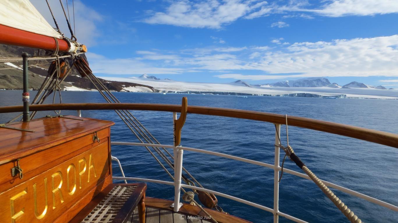 Bark Europa: Abschied von Antarktika