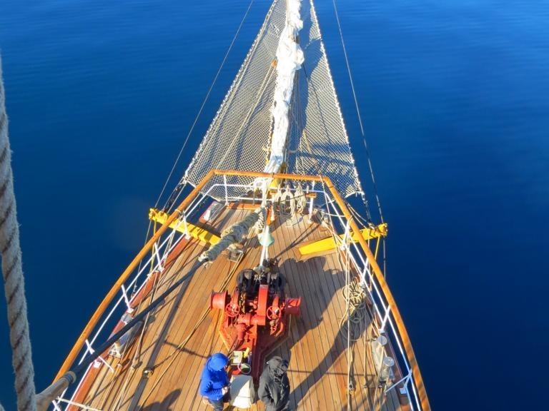 vom Mast der Bark Europa - strahlendes Blau im Weddell-Meer