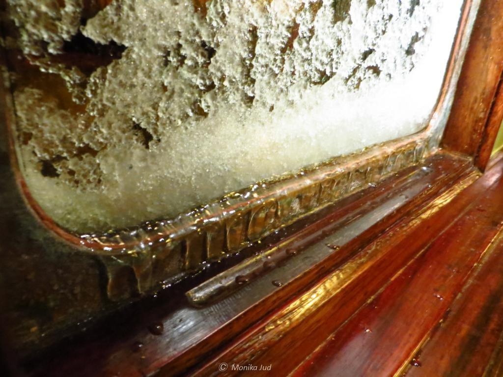 Eiszapfen im Salon der Bark Europa