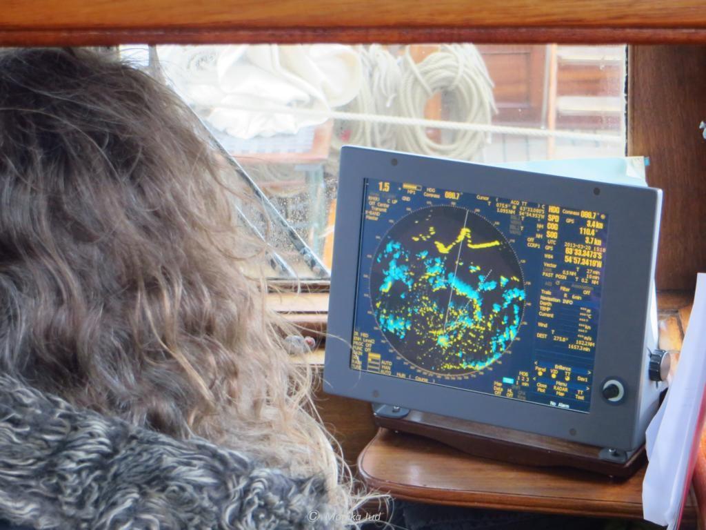 alles voller Eisschollen und Eisberge auf dem Radar
