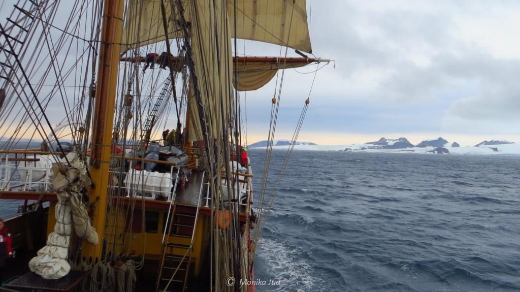 Bark Europa auf dem Weg zur Hope Bay, Antarktika