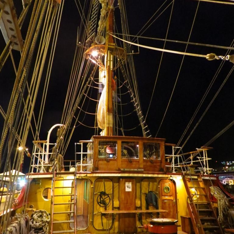 Bark Europa - Deck bei Nacht