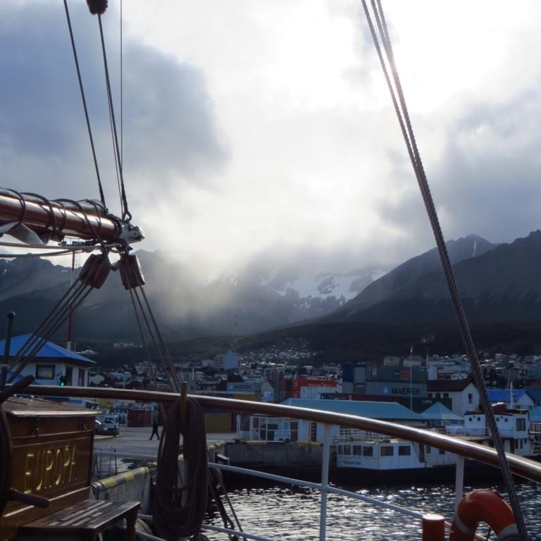 Bark Europa in Ushuaia