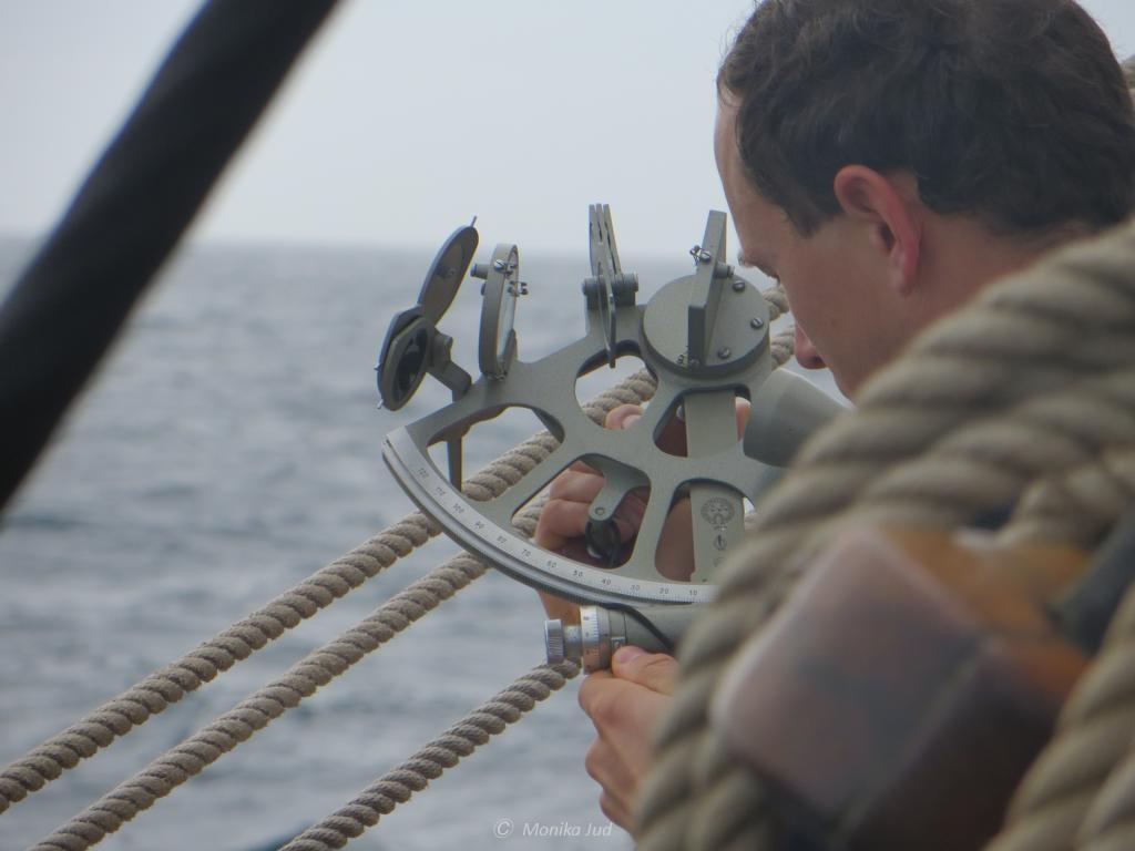Positionsbestimmung mit Sextant: Training auf See
