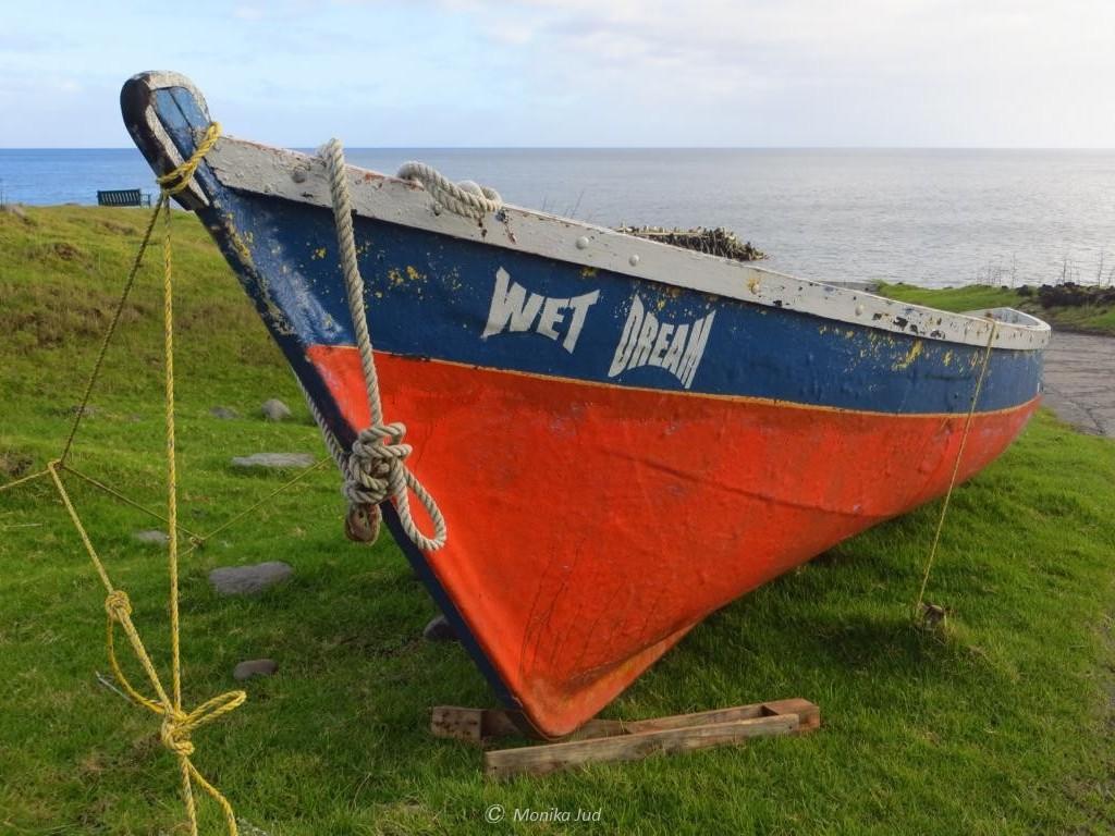 """das kleine Fischerboot """"Wet Dreams"""" - ein Fischer mit Humor"""