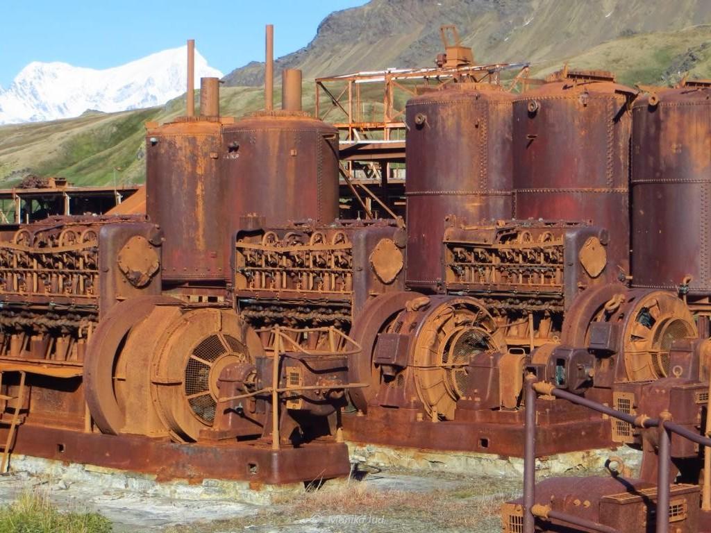 rostige Überreste - das Freilichtmuseum Grytviken